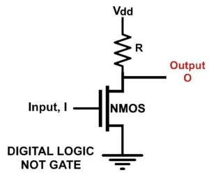 NMOS NOT Gate Schematic