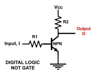 RTL NPN NOT Gate Schematic
