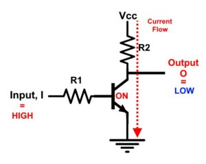 RTL NPN NOT Gate Schematic case 2