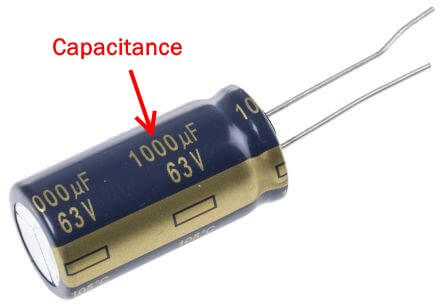 Electrolytic capacitor value