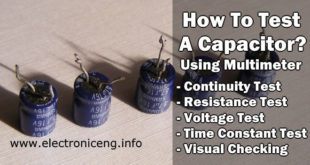 How To Test A Capacitor With Multimeter Different Methods Of Capacitor Test
