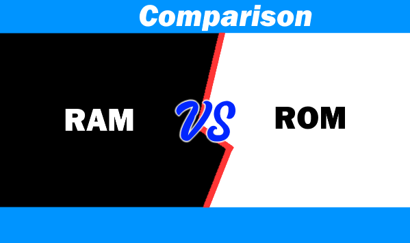 Difference between RAM & ROM With Their Types