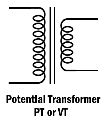Symbol of Potential Transformer